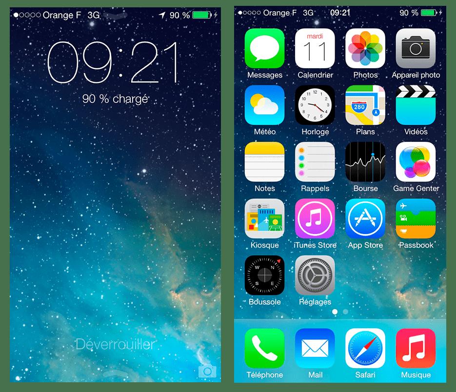 Verrouillage Iphone S