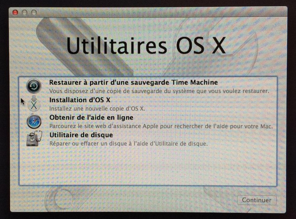 Cr er une cl usb bootable pour installer mavericks for Fenetre utilitaire mac