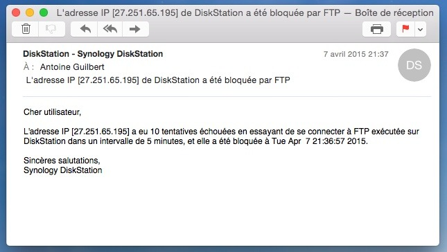 mail-notification-francais-synology